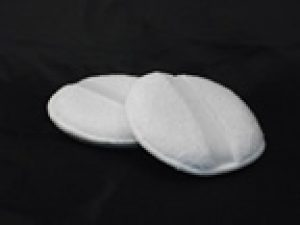 White pads with elastic