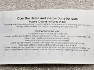 Clay bar label