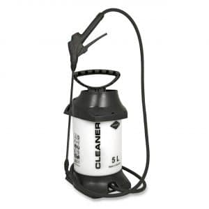 A 5 litre Mesto compressed air sprayer resistant to alkalis with EPDM seals